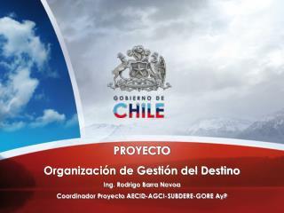 PROYECTO  Organización de Gestión del Destino  Ing. Rodrigo Barra Novoa
