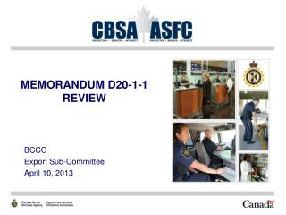 MEMORANDUM D20-1-1 REVIEW