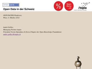 Open Data in der Schweiz
