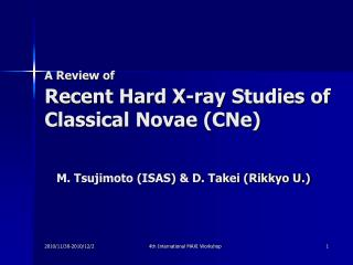A Review of Recent Hard X-ray Studies of Classical Novae (CNe)