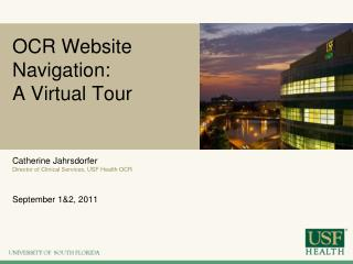 OCR Website Navigation:   A Virtual Tour