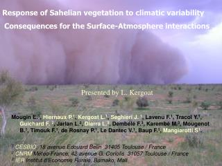 Response of Sahelian vegetation to climatic variability
