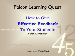 Falcon Learning Quest