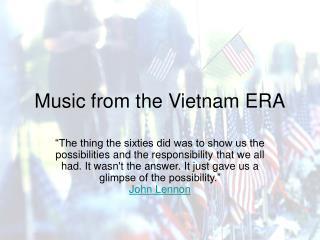 Music from the Vietnam ERA
