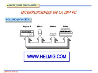 INTERRUPCIONES EN LA IBM PC