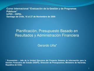 Planificación, Presupuesto Basado en Resultados y Administración Financiera