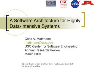 A Software Architecture for Highly Data-Intensive Systems
