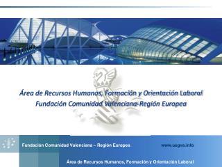 Área de Recursos Humanos, Formación y Orientación Laboral