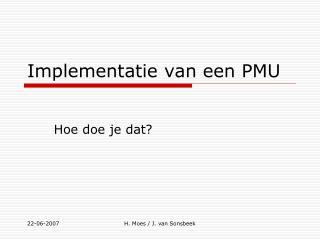 Implementatie van een PMU