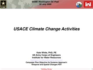 USACE Climate Change Activities