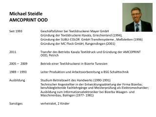 Michael  Steidle AMCOPRINT OOD
