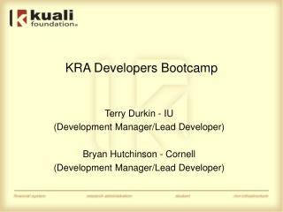 KRA Developers Bootcamp