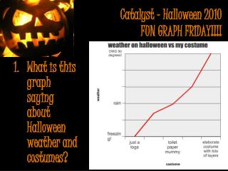 Catalyst - Halloween 2010 FUN GRAPH FRIDAY!!!!