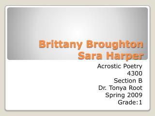 Brittany Broughton Sara Harper