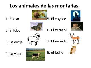 Los  animales  de  las montañas