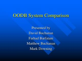 OODB System Comparison