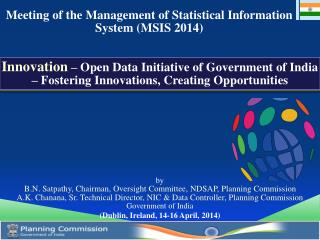 Meeting of the Management of Statistical Information System (MSIS 2014)