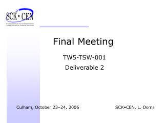 Final Meeting