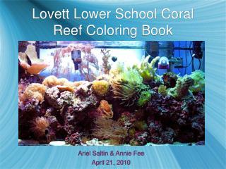 Lovett Lower School Coral Reef Coloring Book