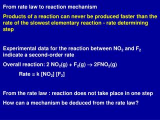 From rate law to reaction mechanism