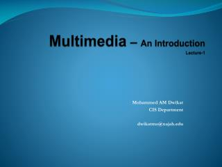 Multimedia   An Introduction