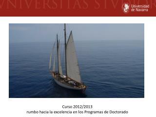 Curso 2012/2013  rumbo hacia la excelencia en los Programas de Doctorado
