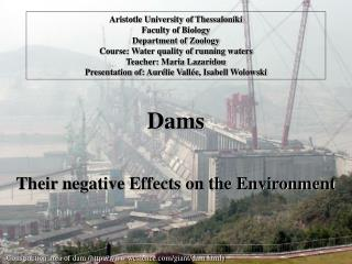 Dams Their negative Effects on the Environment
