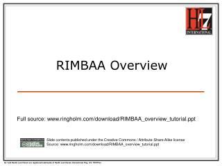RIMBAA Overview