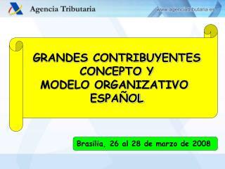 GRANDES CONTRIBUYENTES CONCEPTO Y MODELO ORGANIZATIVO  ESPA OL