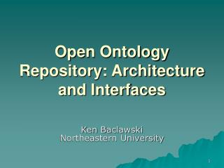 Open Ontology Repository: Architecture and Interfaces