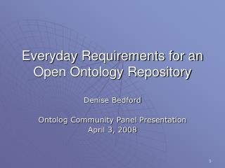 Everyday Requirements for an  Open Ontology Repository