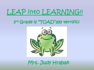 LEAP into LEARNING!!