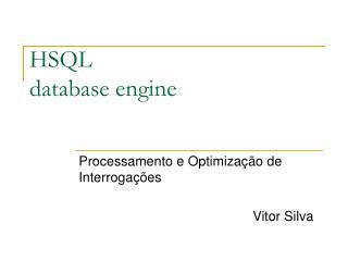HSQL  database engine