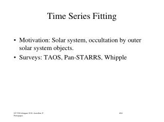 Time Series Fitting