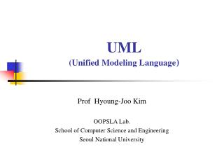 UML (Unified Modeling Language )