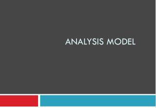 analysis model