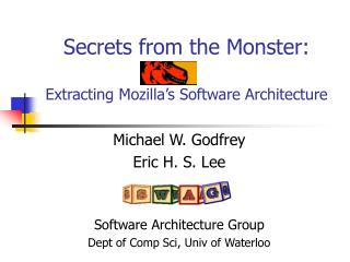 Secrets from the Monster: Extracting Mozilla's Software Architecture
