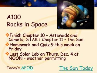 A100  Rocks in Space