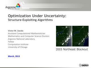 Optimization Under Uncertainty:  Structure-Exploiting Algorithms