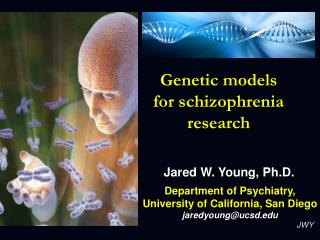 Genetic models for schizophrenia research