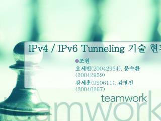 IPv4 / IPv6 Tunneling  기술 현황