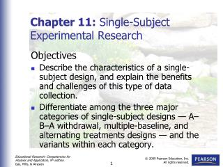 Chapter 11:  Single-Subject Experimental Research