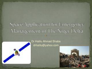 Dr Halilu Ahmad Shaba drhalilu@yahoo