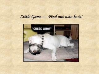 Little Game — Find out who he is!