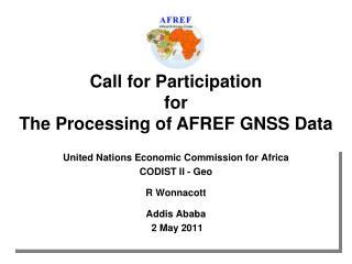 United Nations Economic Commission for Africa CODIST II - Geo R Wonnacott  Addis Ababa  2 May 2011