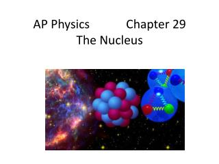 AP Physics            Chapter 29 The Nucleus
