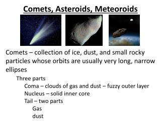 Comets, Asteroids, Meteoroids