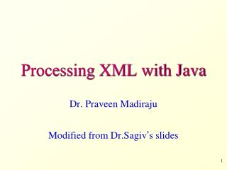 Processing XML with Java