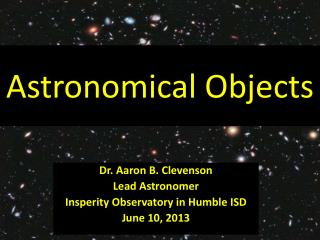 Astronomical Objects
