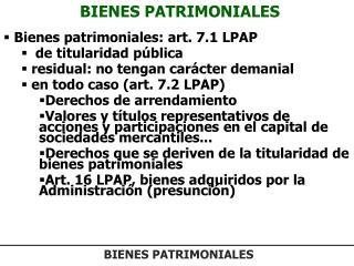 BIENES PATRIMONIALES